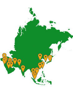 Moor Instruments Distribution Map - Asia